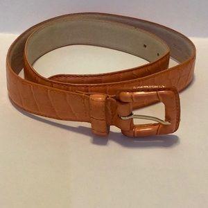 🐊Esprit Crocodile Look Leather Belt 🐊